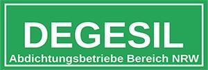 Degesil   Abdichtungsbetriebe NRW – Wir lassen Sie nicht im Regen stehen  – Feuchte Wände, nasse Keller in Nordrhein-Westfalen NRW Logo